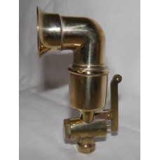 "4"" Scale Steam Siren in polished brass."