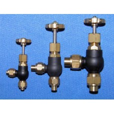 """Globe valve - 90 deg. Pipe to pipe - 1/4"""" pipe"""
