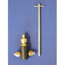 1/8 pipe to pipe inline, plug type water valve.
