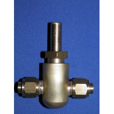 3/8 pipe to pipe inline, plug type water valve.