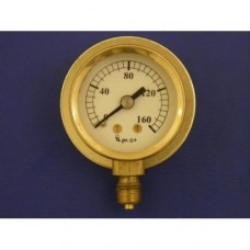 "1 5/8"" pressure gauge, 0 - 160 lbs.  With back flange."