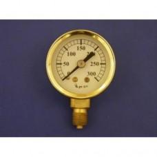 """1 5/8"""" pressure gauge, 0 - 300 lbs.  Plain."""