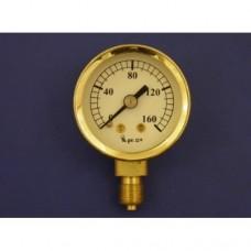 """2"""" pressure gauge, 0 - 160 lbs.  Plain."""