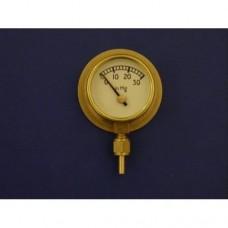 """1"""" vacuum gauge, 0 - 30 HG.  With back flange."""