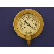 """2"""" vacuum gauge, 0 - 30 HG.  With back flange."""