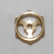"""11/16"""" 3 Spoked Brass Machined Hand Wheel"""