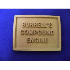 "4"" Burrell Single Crank Compound Name Plate"