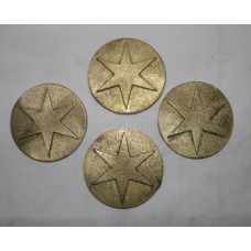 "4"" Burrell DCC Centre Ring Stars - set 4"