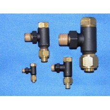 3/32 pipe, 90 degree, 3/16 x 40 thread non-return valve.