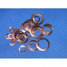 "Copper shim washers - 3/16"" ID"